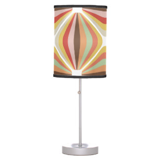 Striped square circus pattern desk lamp