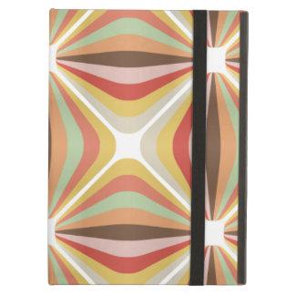 Striped square circus pattern iPad folio case