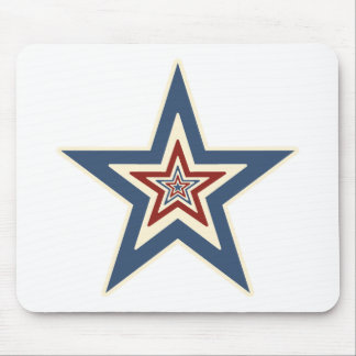 Striped Star Mouse Pad