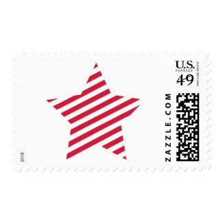 Striped star postage
