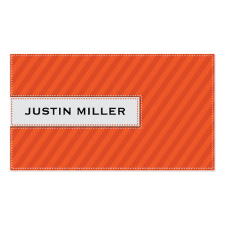 Striped Stitching - Orange Double-Sided Standard Business Cards (Pack Of 100)