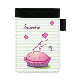 Striped Sweetie Pie Mini Padfolio