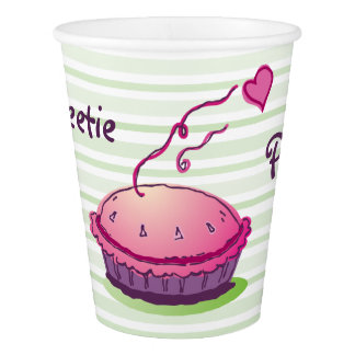 Striped Sweetie Pie Paper Cup