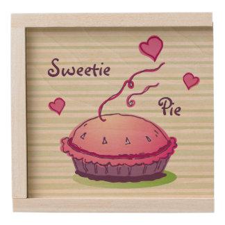 Striped Sweetie Pie Wooden Keepsake Box