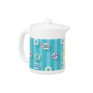 Striped Swimming Pool Teapot