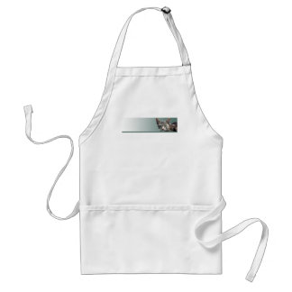 Striped Tabby with Green Eyes Adult Apron