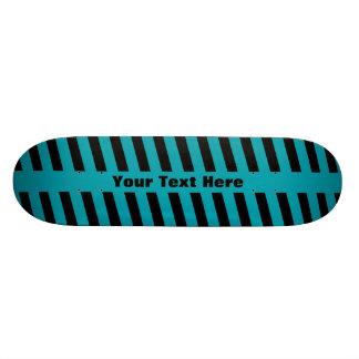 Striped Teal/Black Deck