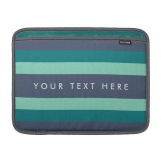 Striped Teal & Blue Custom Sleeve For MacBook Air