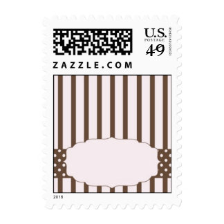 Striped Template Postage Stamp