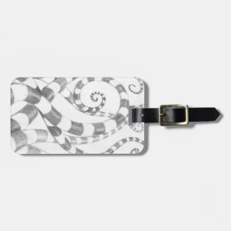 Striped Tentacles Luggage Tag