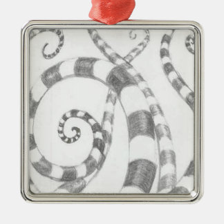 Striped Tentacles Premium Square Ornament