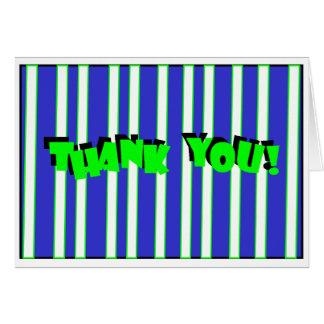 striped thank u card