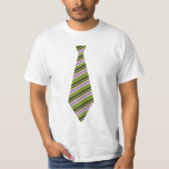 Striped tie novelty shirt