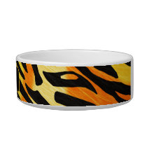 Striped Tiger Fur Print Pattern Bowl