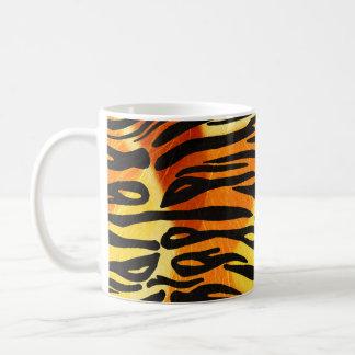 Striped Tiger Fur Print Pattern Coffee Mug