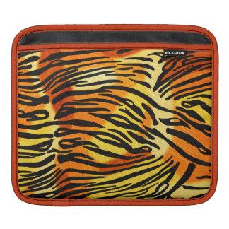 Striped Tiger Fur Print Pattern iPad Sleeves
