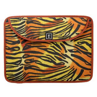 Striped Tiger Fur Print Pattern MacBook Pro Sleeves