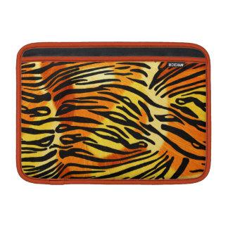 Striped Tiger Fur Print Pattern MacBook Sleeves