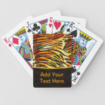 Striped Tiger Fur Print Pattern Personalized Bicycle Playing Cards