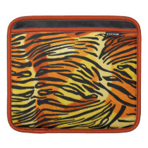 Striped Tiger Fur Print Pattern Sleeve For iPads