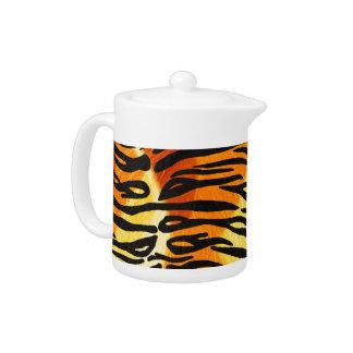 Striped Tiger Fur Print Pattern