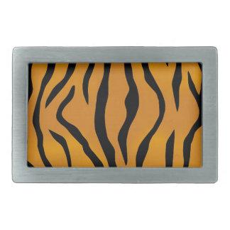 Striped Tiger Pattern Rectangular Belt Buckles