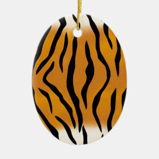 Striped Tiger Pattern Ceramic Ornament