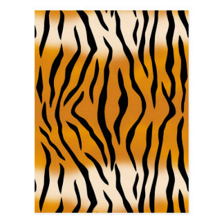 Striped Tiger Pattern Postcard