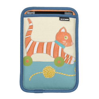 Striped Toy Cat with Ball of String Sleeve For iPad Mini