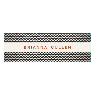 Striped Trendy Chevron Elegant Fashion and Beauty Double-Sided Mini Business Cards (Pack Of 20)