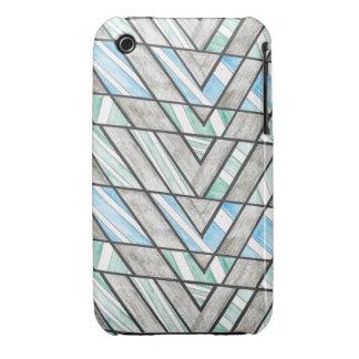 Striped V Motif iPhone 3 Case