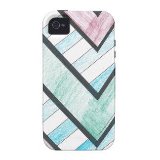 Striped V Motif iPhone 4 Case