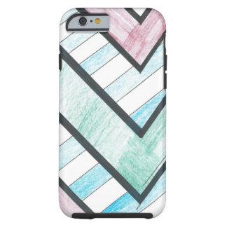 Striped V Motif iPhone 6 case