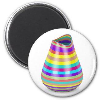 Striped vase magnet
