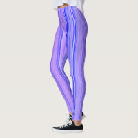 Striped Vertical Stripes Purple Leggings
