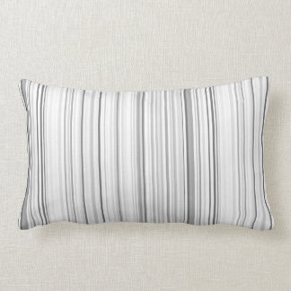 Striped Vertical Stripes White Gray Light Grey Lumbar Pillow