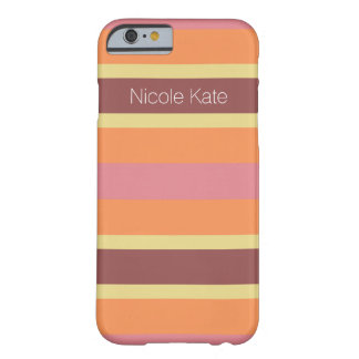 striped warm colors marsala barely there iPhone 6 case