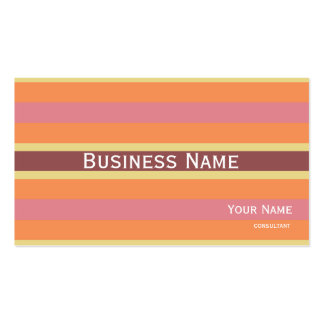 striped warm colors marsala Double-Sided standard business cards (Pack of 100)