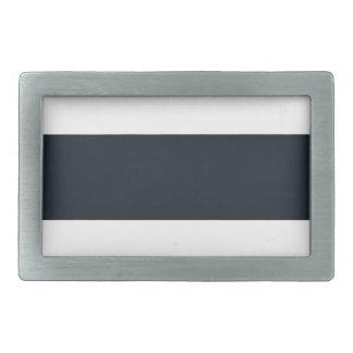 Striped (White & Black) Rectangular Belt Buckle