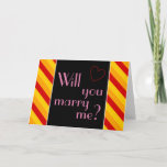"""[ Thumbnail: Striped """"Will You Marry Me?"""" Card ]"""