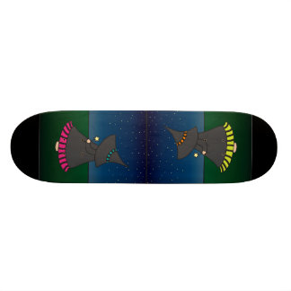 Striped Witchy Wendy Magic Girl's Skateboard