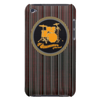 striped yellow drum barely there iPod cases