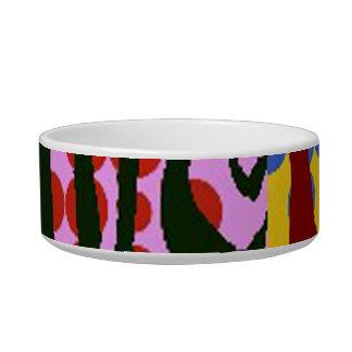 Striped Zebra Art Deco Pet Bowl Cat Bowl