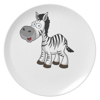 striped zebra art dinner plate