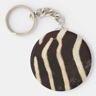 Striped Zebra Skin Key Chain