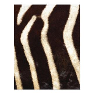 Striped Zebra Skin Letterhead