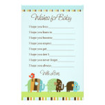 Striped Zutano Elephant Stationary Wishes for Baby Customized Stationery