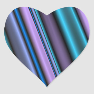 Striper Heart Sticker
