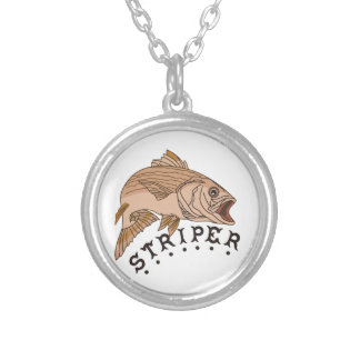 Striper Silver Plated Necklace