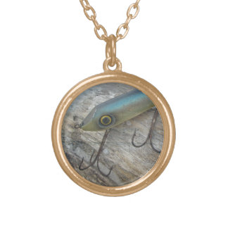 Striper Xpert Surf Slapper Antique Fishing Lure Round Pendant Necklace